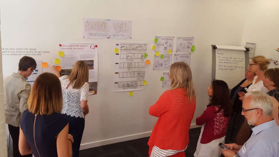 Photo from a Q Improvement Lab design workshop in 2016