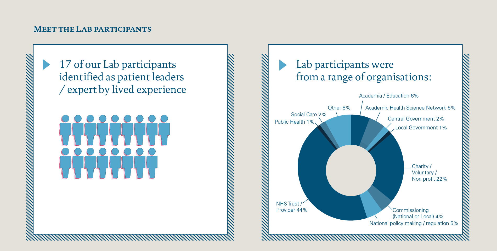 A breakdown of the Lab participants from the first Q Improvement Lab project